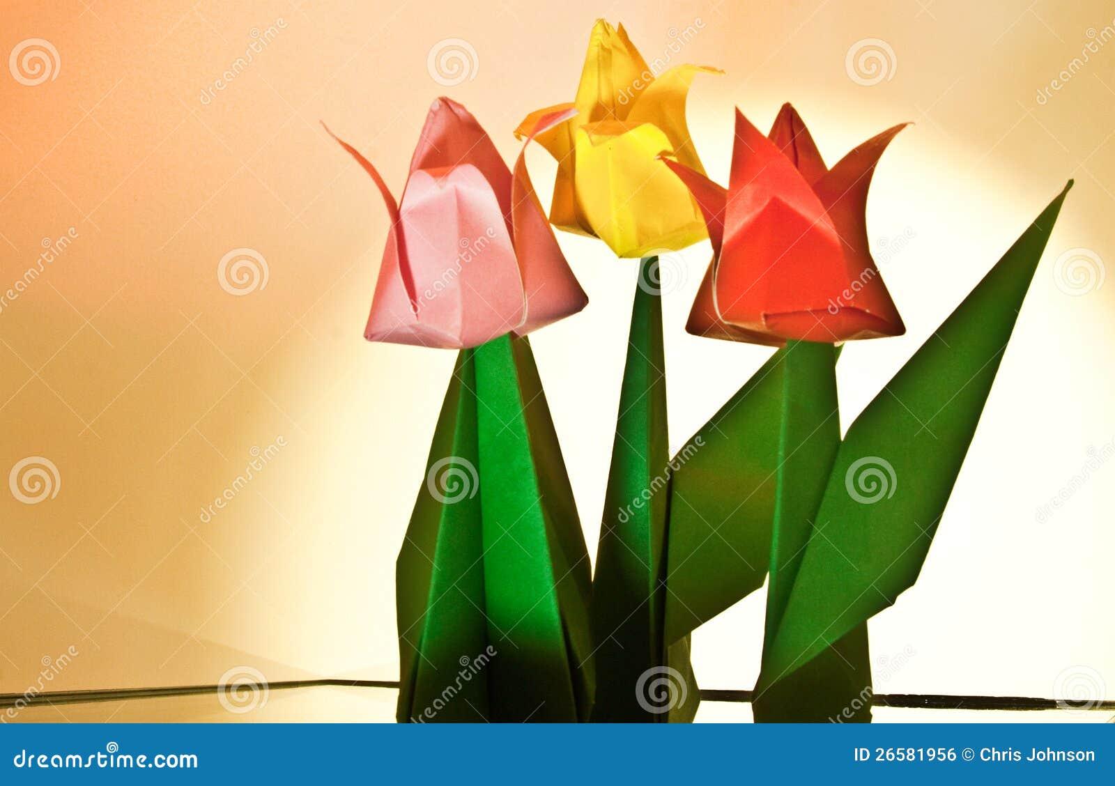 Tulip Flower Craft Stock Photo Image Of Children Arts 26581956