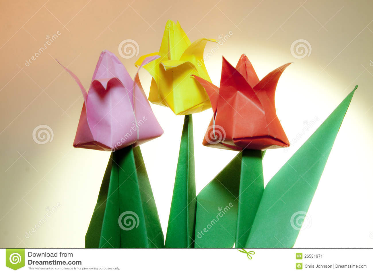 origami flower tulip tulip paper flowers stock image image of easter crafting 2581