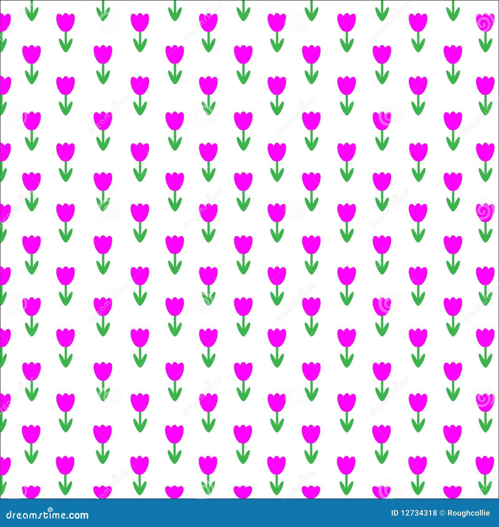 tulip wallpaper background seamless stock vector
