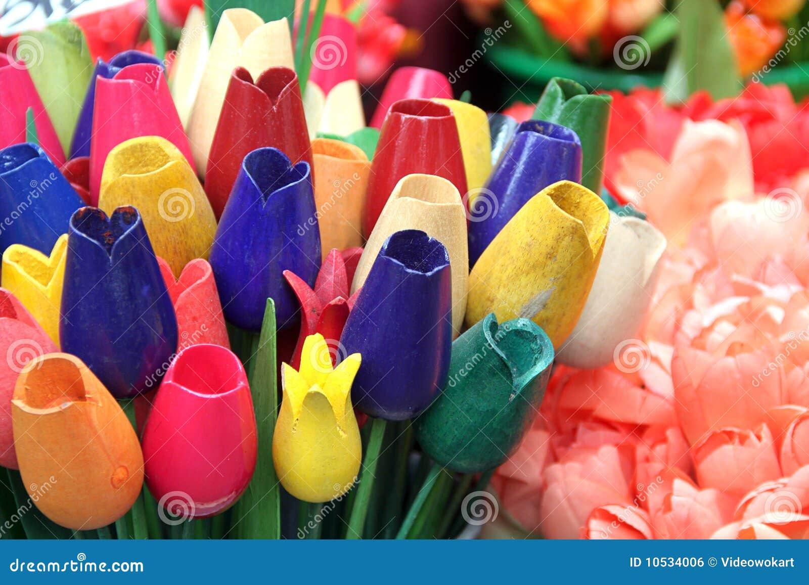 Tulipani di amsterdam di legno immagine stock libera da for Mazzo per esterni in legno