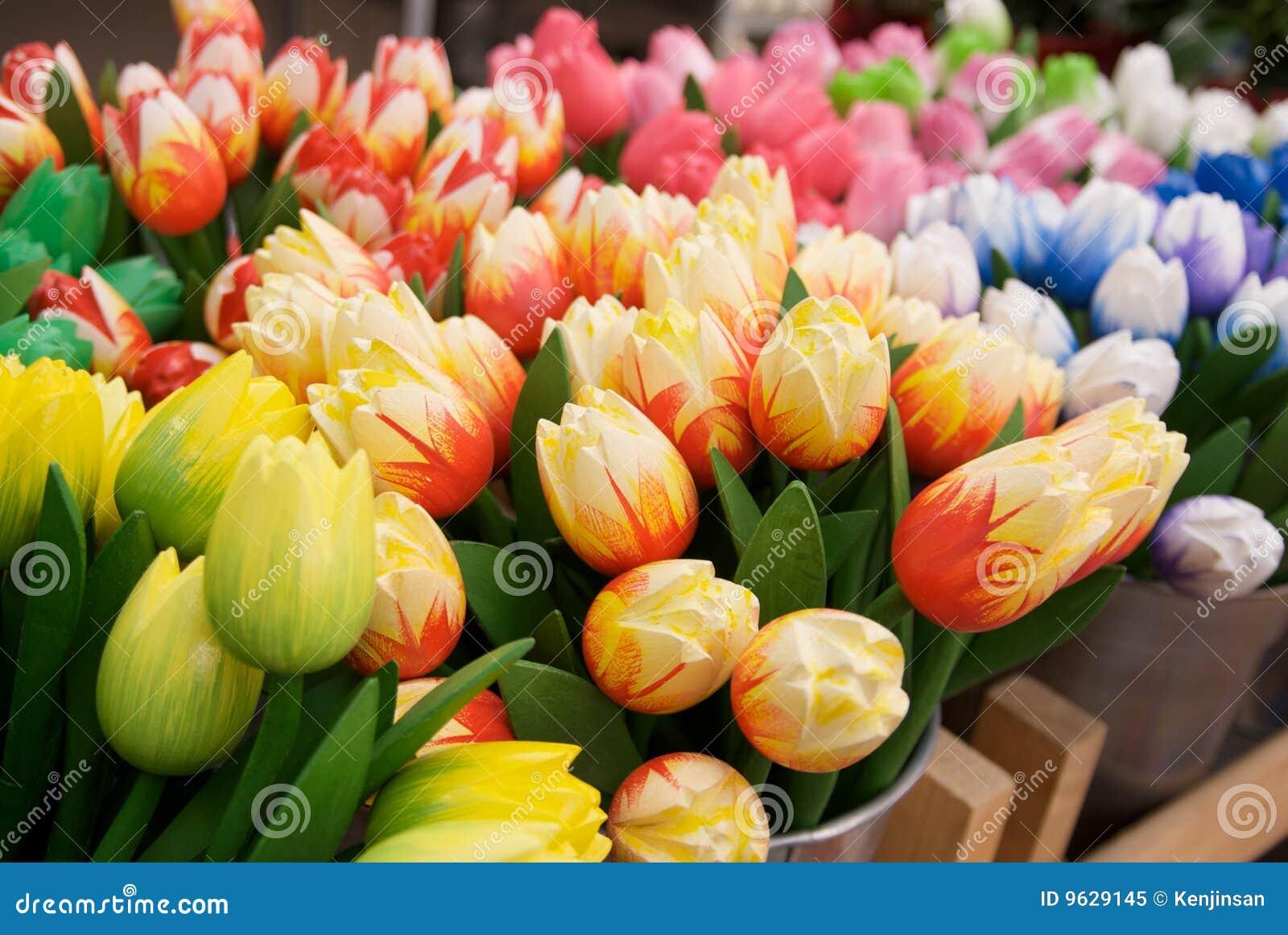 Tulipes En Bois Image Stock Image Du Fleur Coloré Holland 9629145