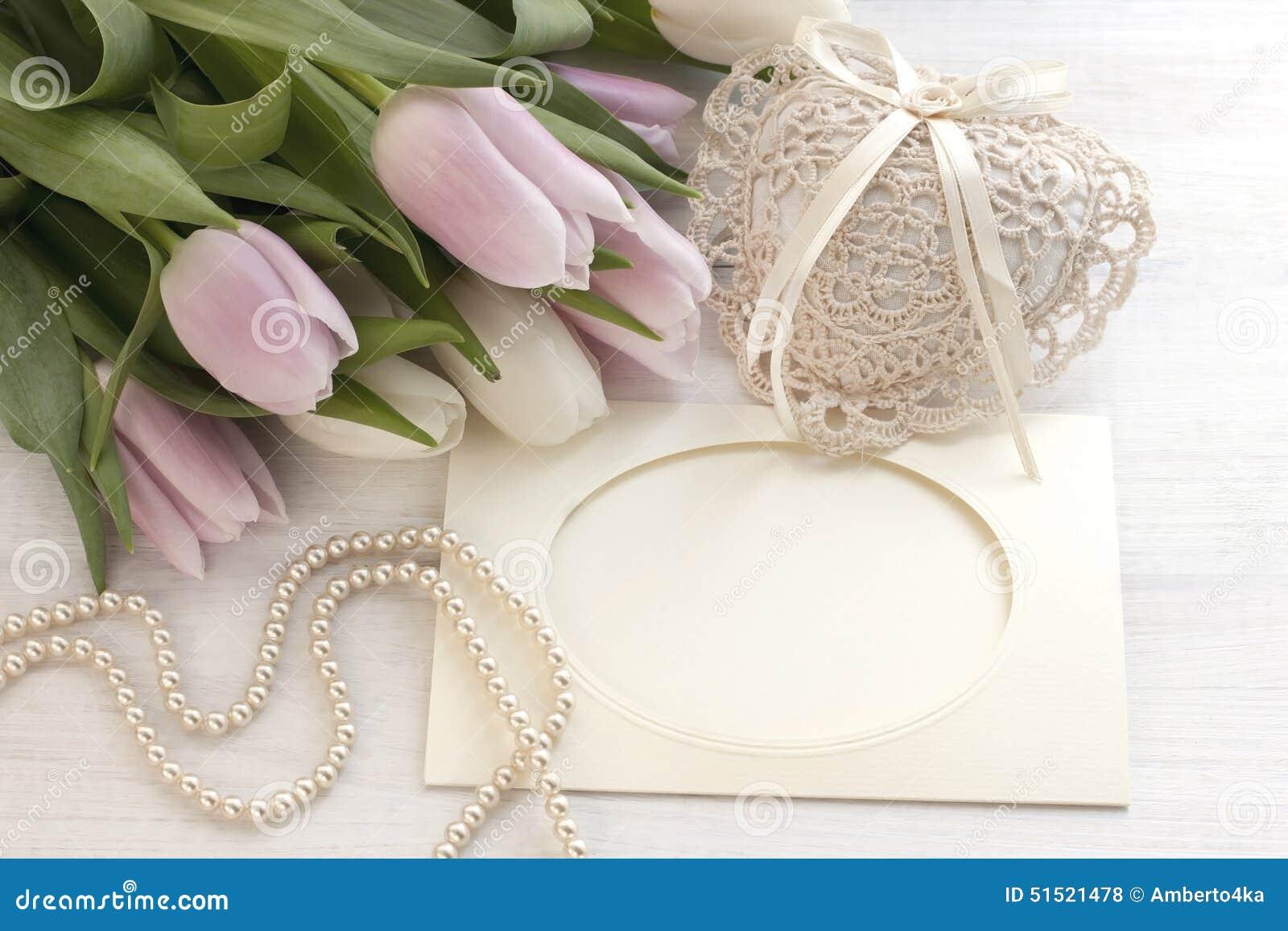 Tulipes fra ches carte de voeux pour le jour de m res jour de valentines mariage photo stock - Carte de voeux dromadaire gratuite ...