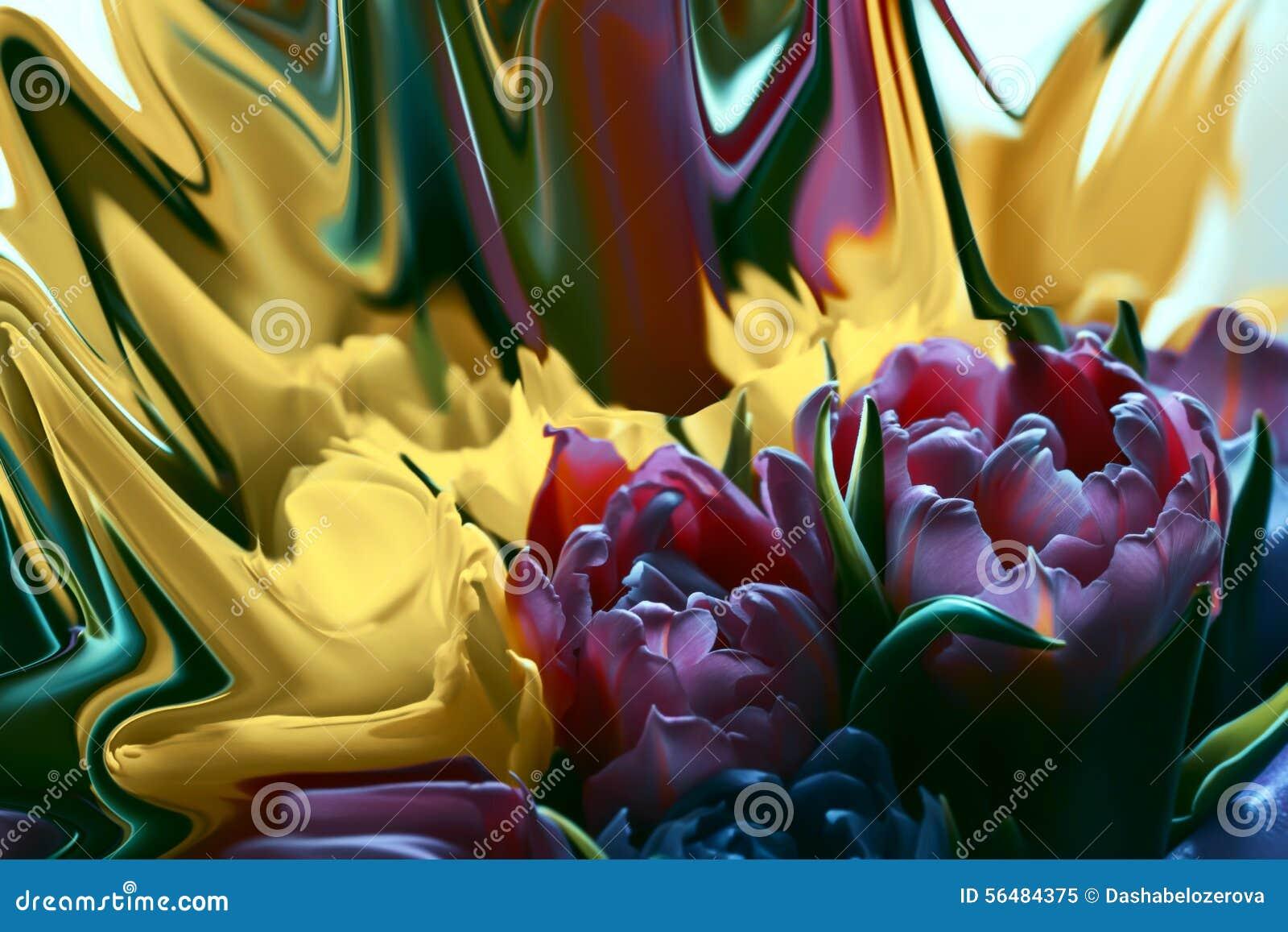Tulipes roses et jaunes