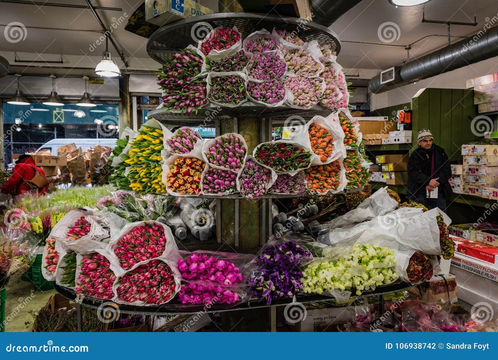 Tulips - Chelsea Flower Market - New York City Editorial