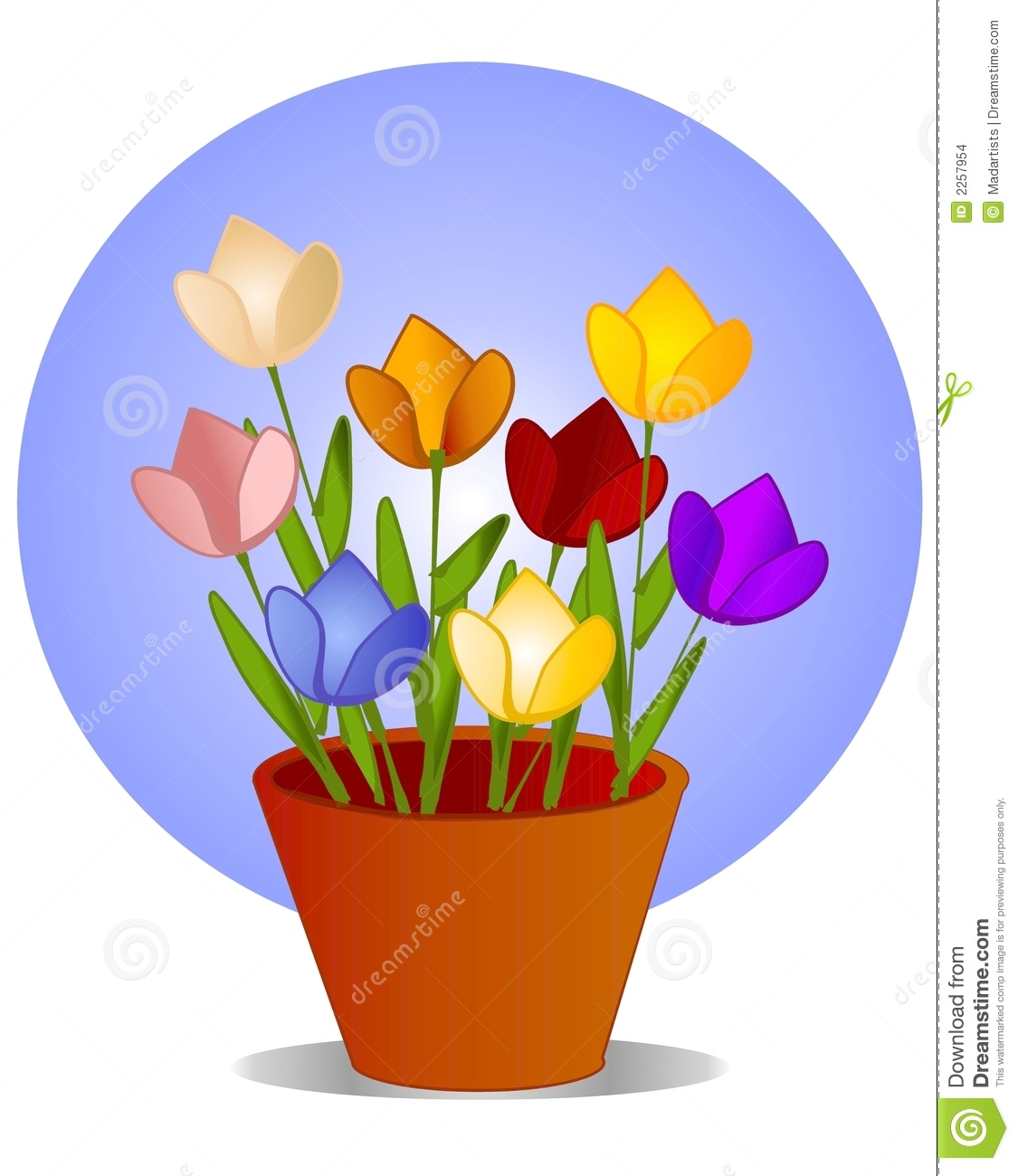 tulips in flower pot clip art stock illustration illustration of rh dreamstime com