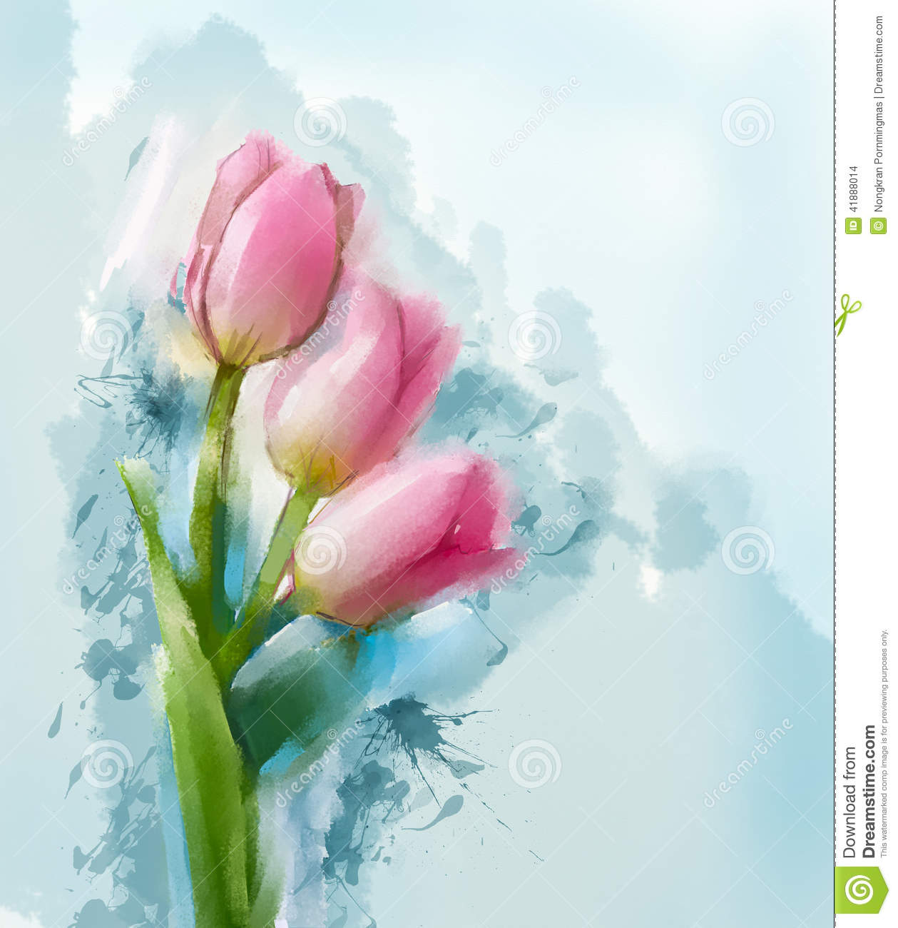 Tulips flowers painting