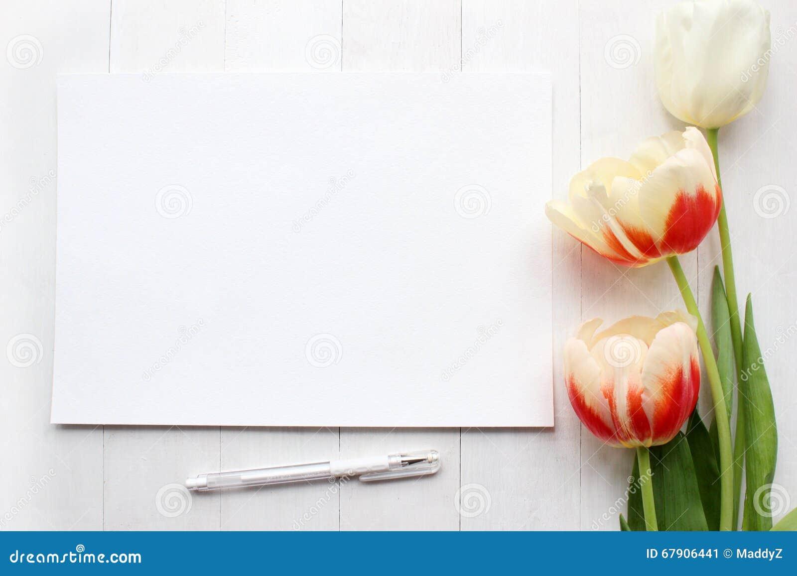tulips mockup post blog social media stock image image of banner