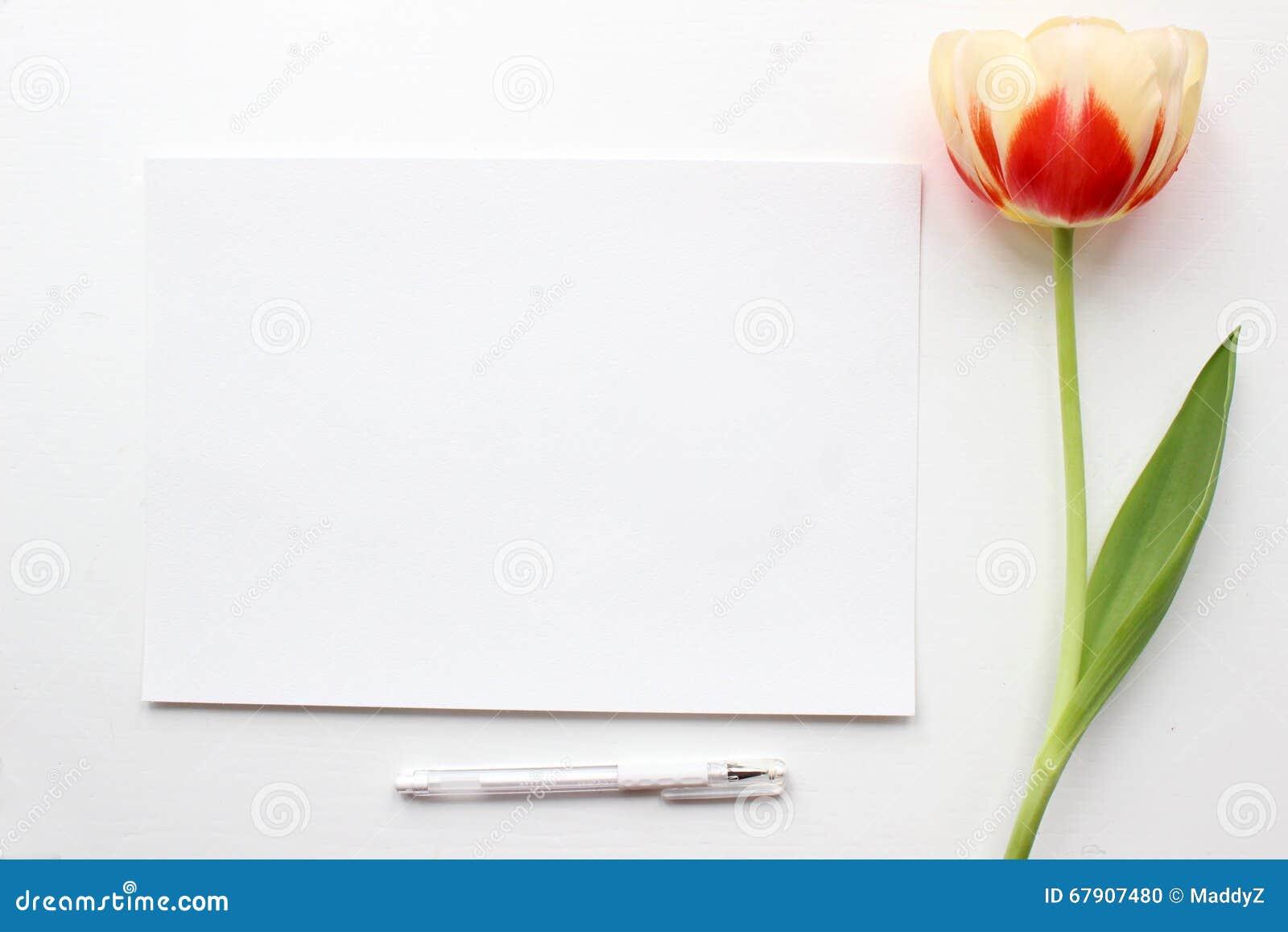 tulips mockup post blog social media stock photo image of paper