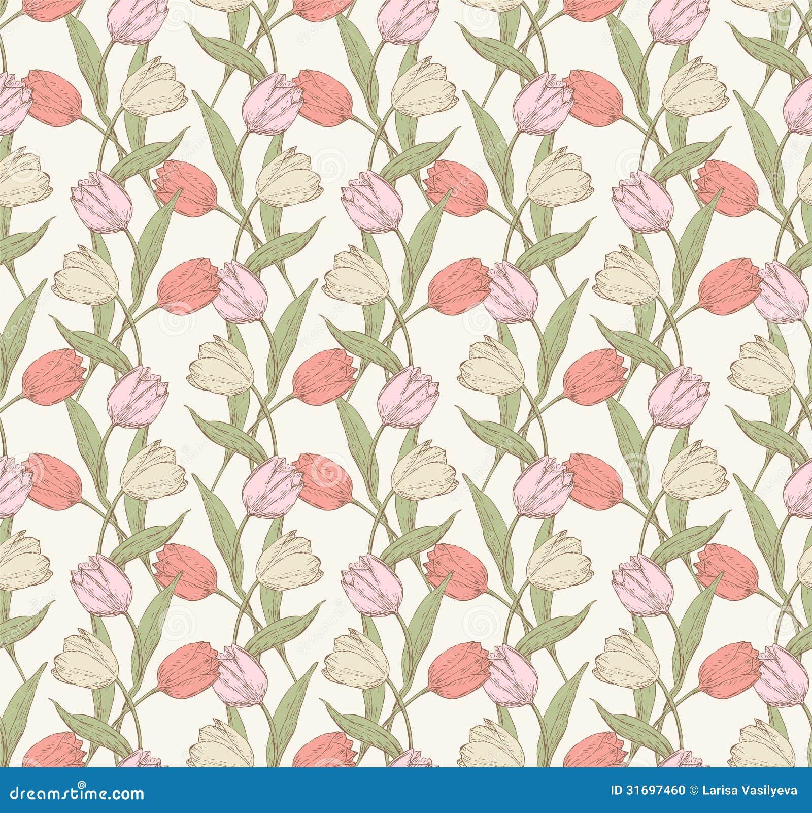 tulips pattern 4 stock photo
