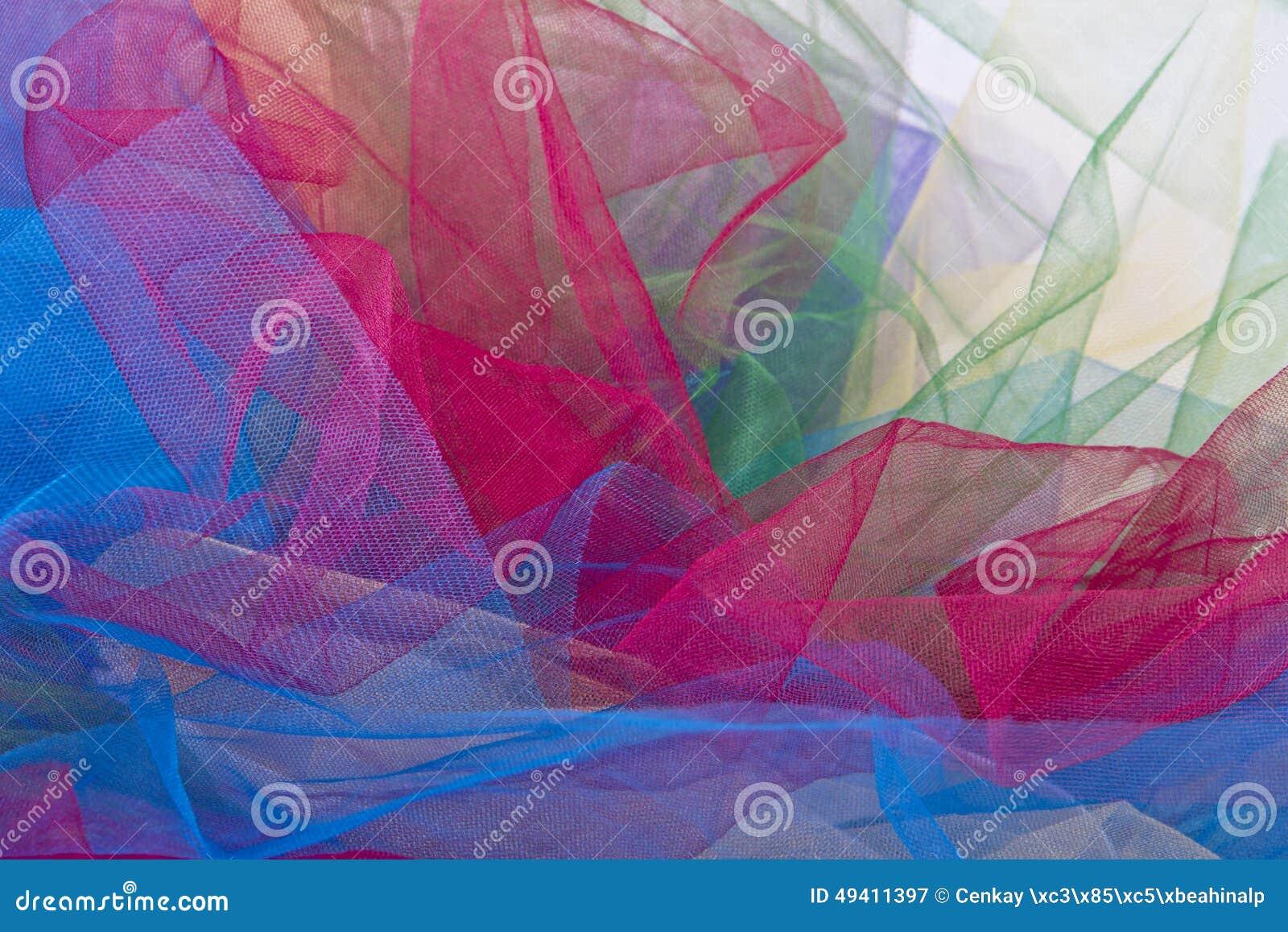 Download Tulle-Gewebe Auf Weißem Hintergrund Stockbild - Bild von auszug, tuch: 49411397
