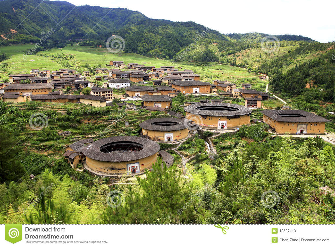 Tulou In China Stock Photos Image 18587113