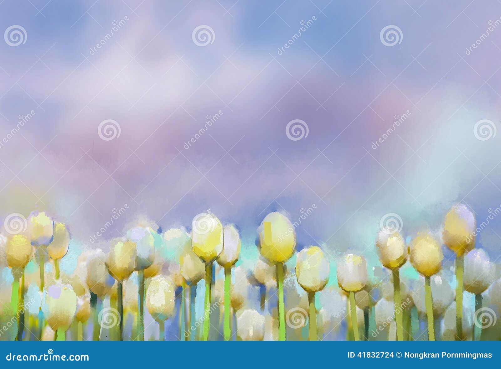 Tulpenblumen Ölgemälde