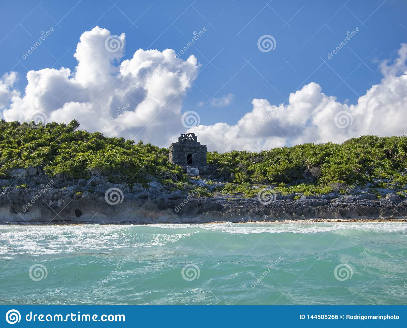 Майяские руины Tulum - Мексики