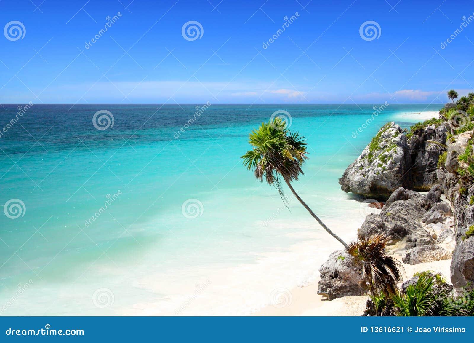 Tulum beach near Cancun, Mayan Riviera, Mexico