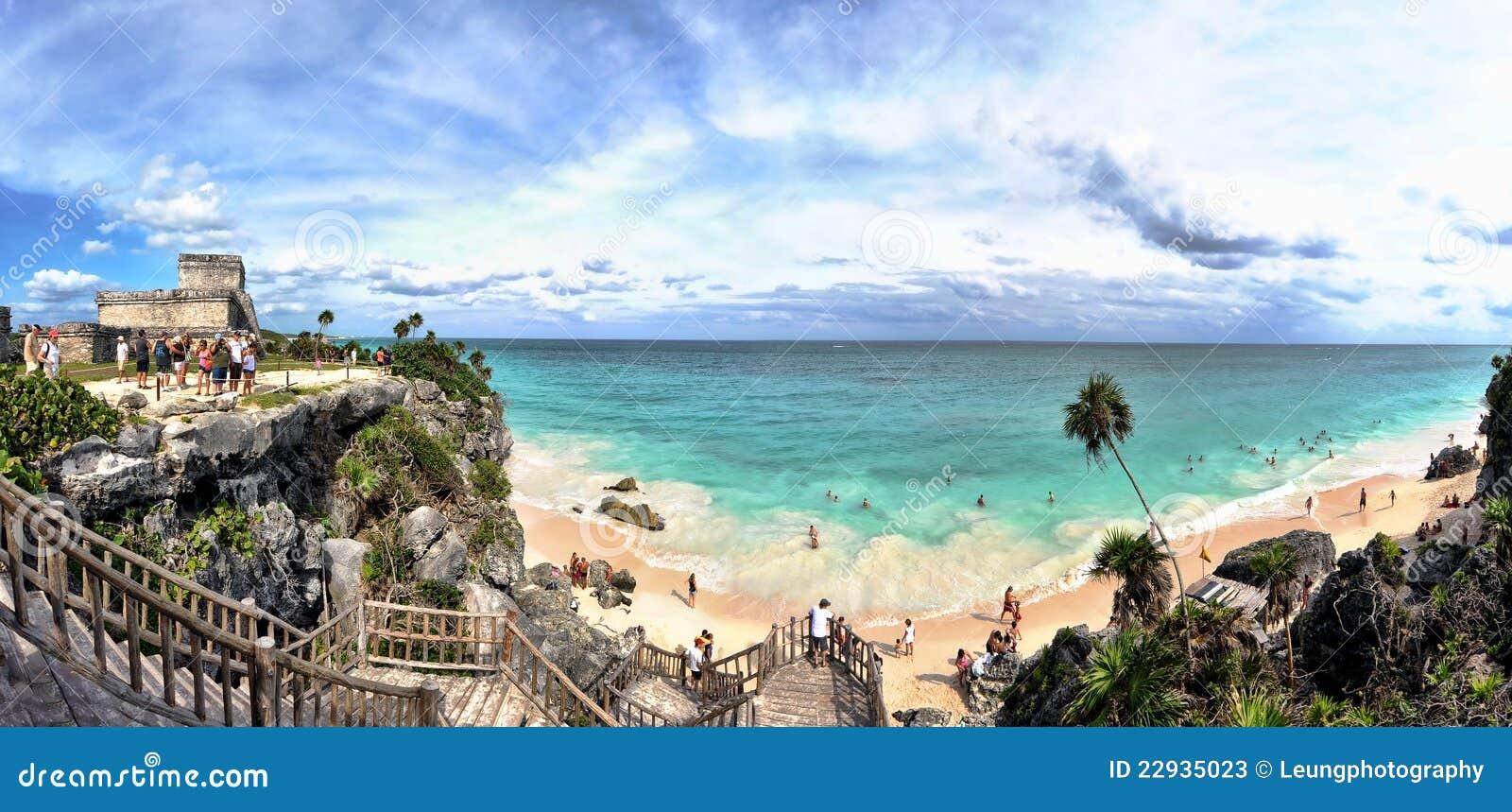 Tulum Beach Panorama, Mayan Riviera, Mexico