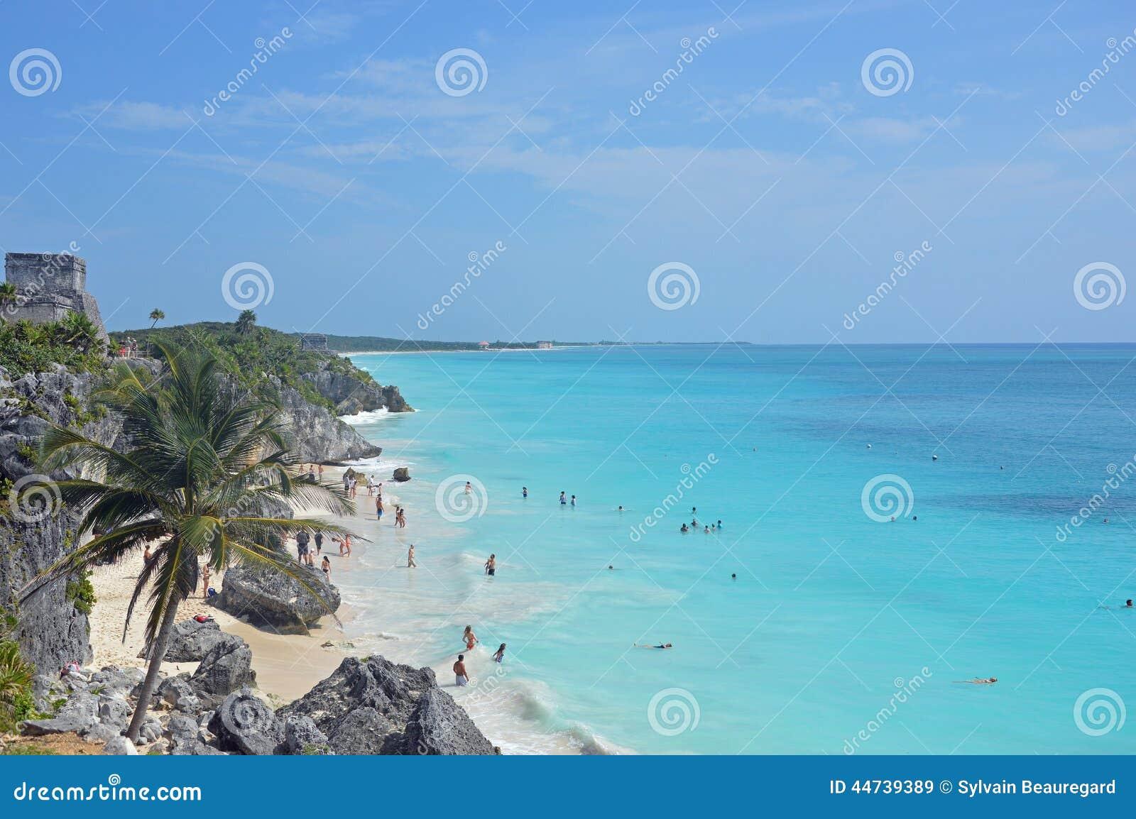Tulum beach and ruins
