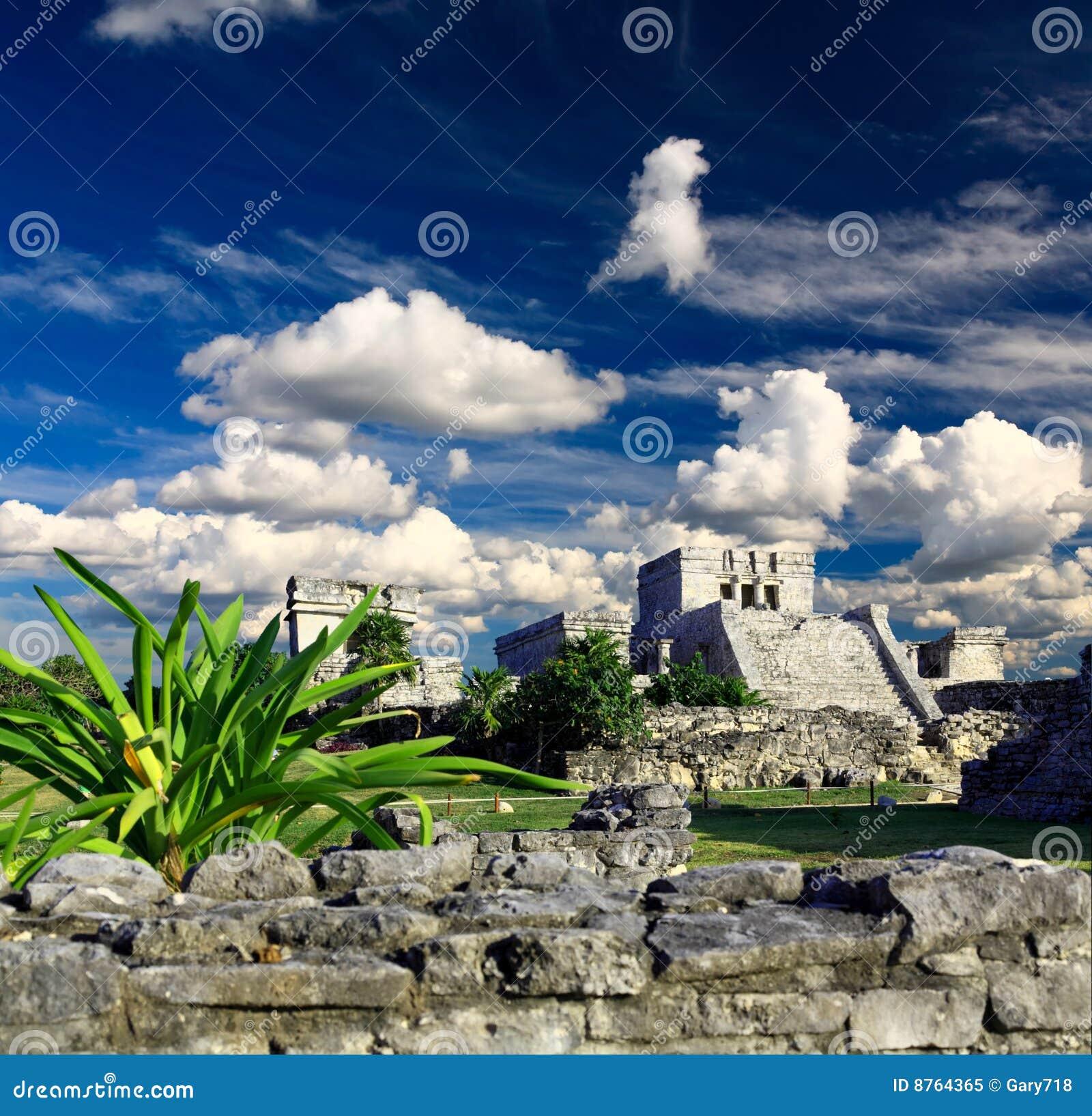 Tulum ruins in the Maya World near Cancun