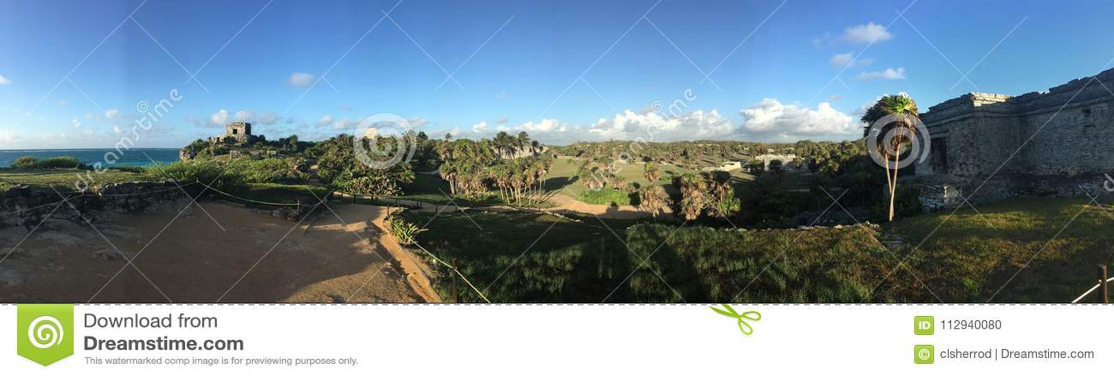 Tulum Ruins Panoramic