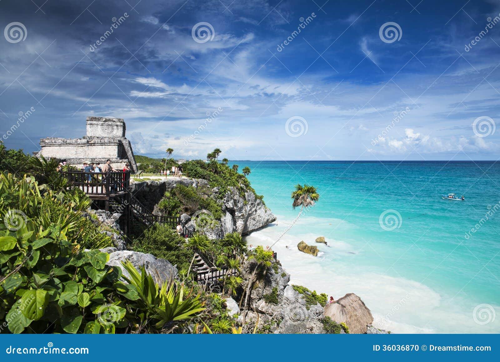 Riviera Maya Ruins Beach Palms