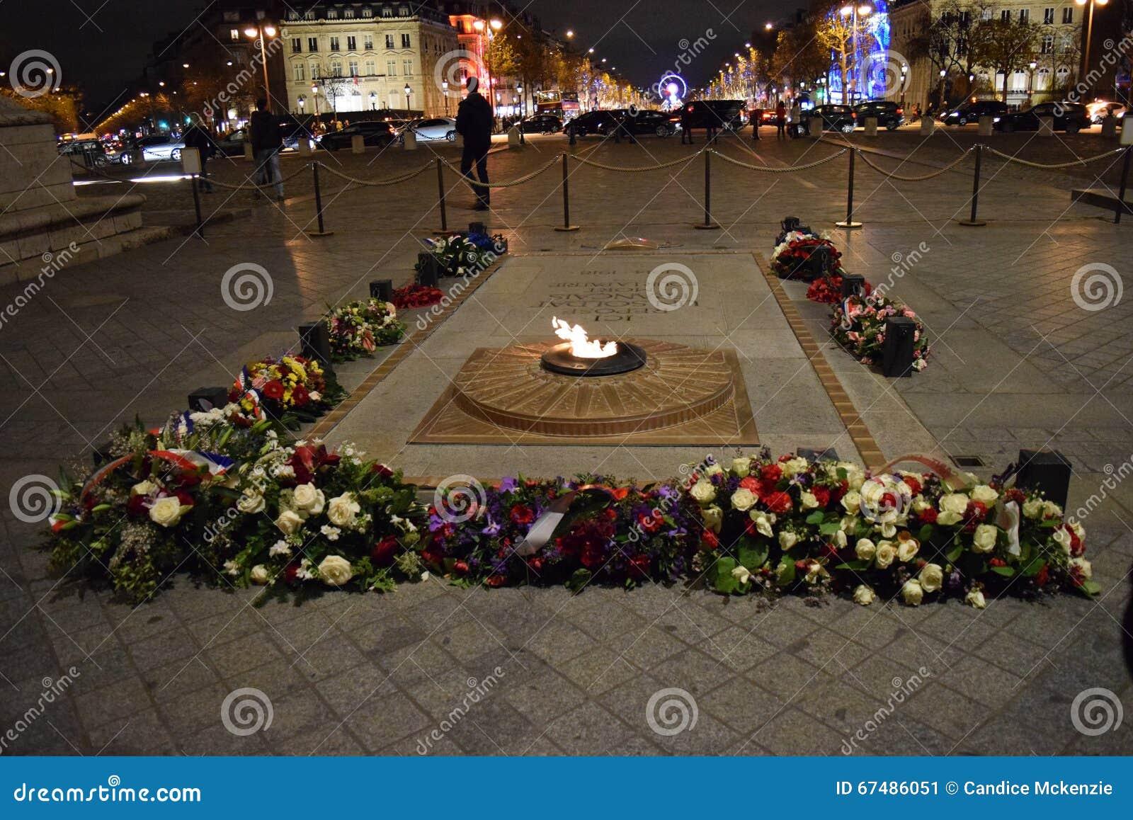 Tumba Del Soldado Desconocido Arc De Triomphe Paris Arco De