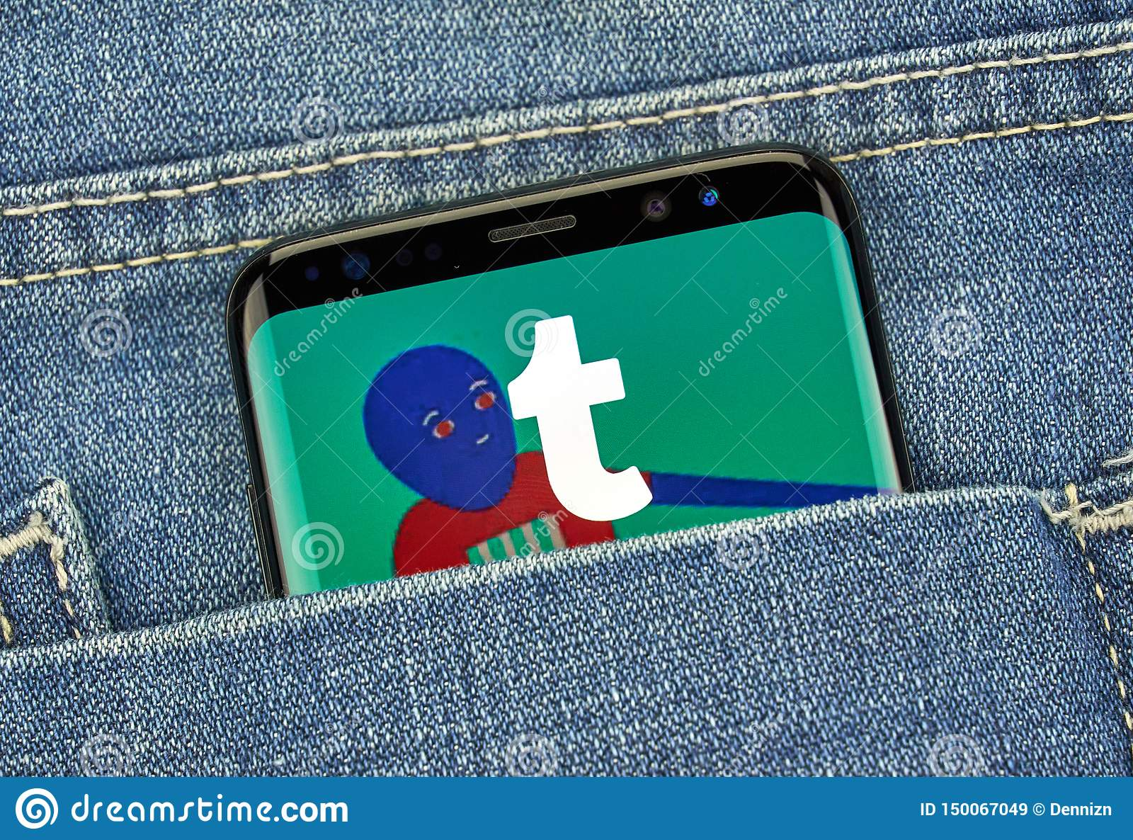 Tumblr Mobile App On Samsung S8 Editorial Stock Image
