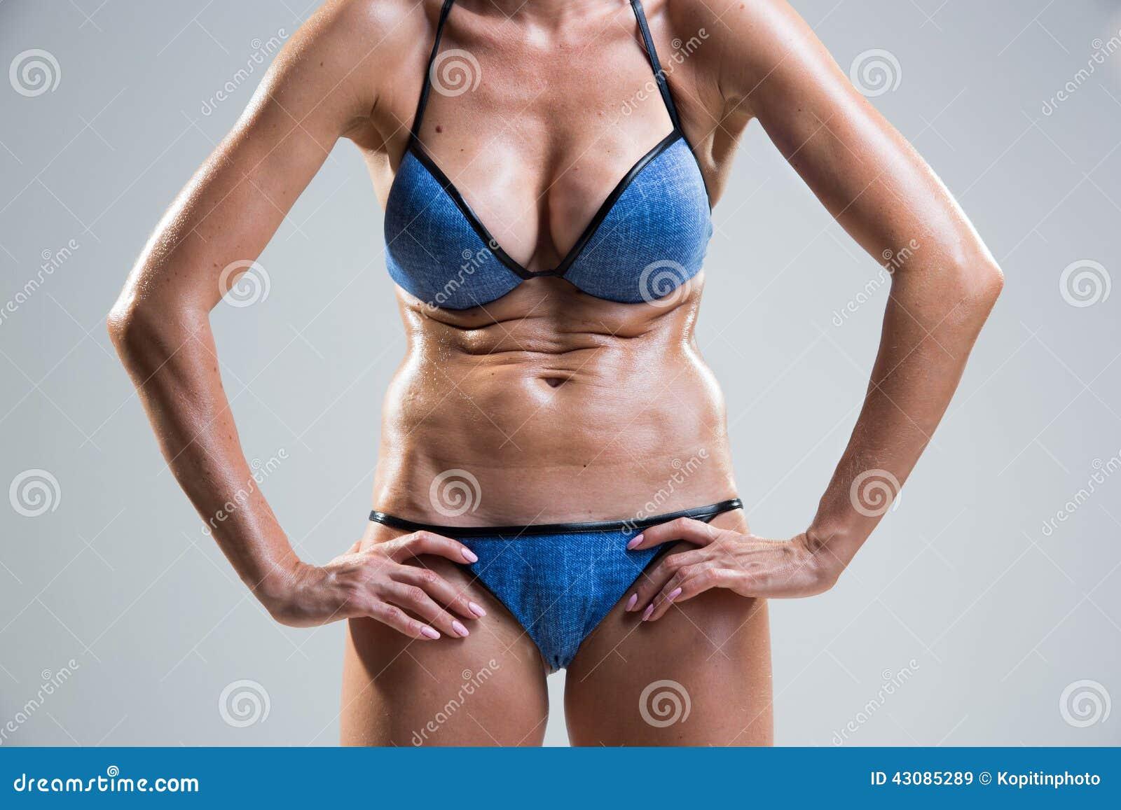 Tummy Cellulite Poor Posture Stock Image Image Of Bikini Tummy 43085289
