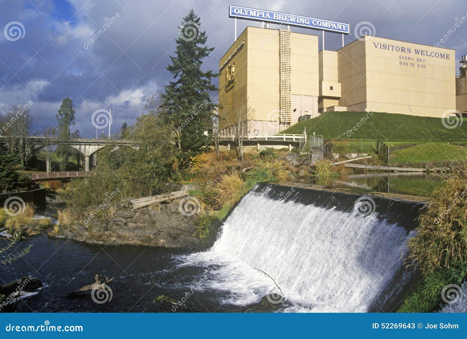 Tumwater baja parque, O, casero de Olympia Beer Brewing Company
