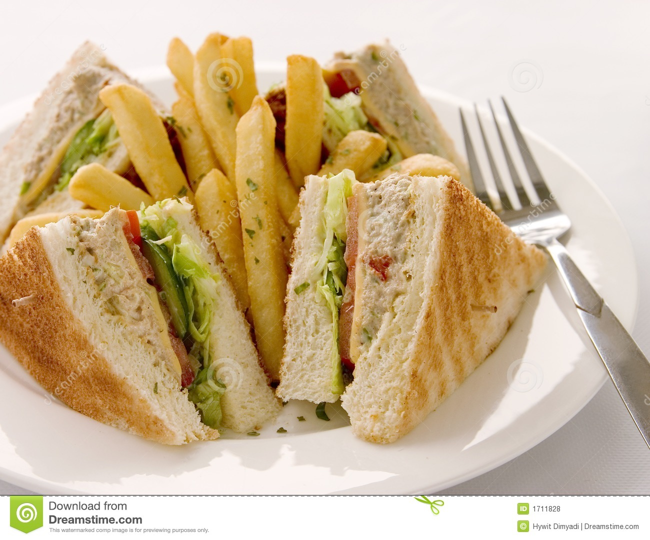 Tuna Club Sandwich Royalty Free Stock Photos - Image: 1711828