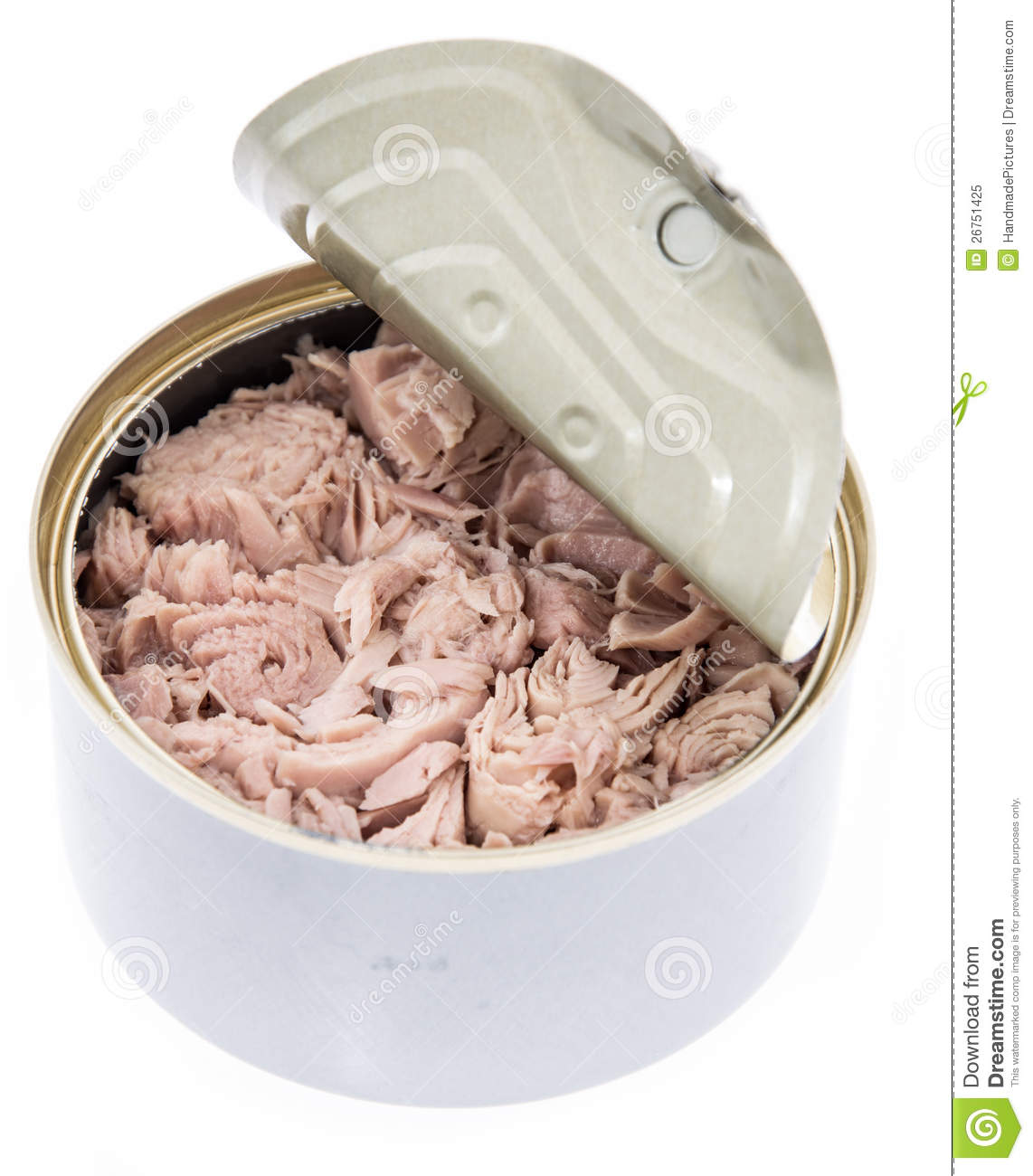 Tuna fish in a can on white royalty free stock photo for Tuna fish can
