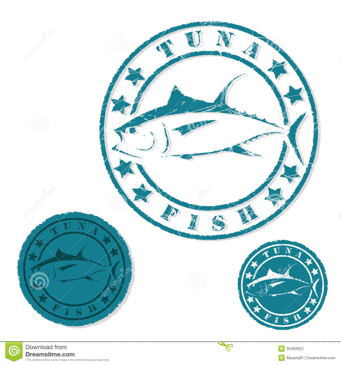 tuna fish grunge stamp stock photography image 33482922