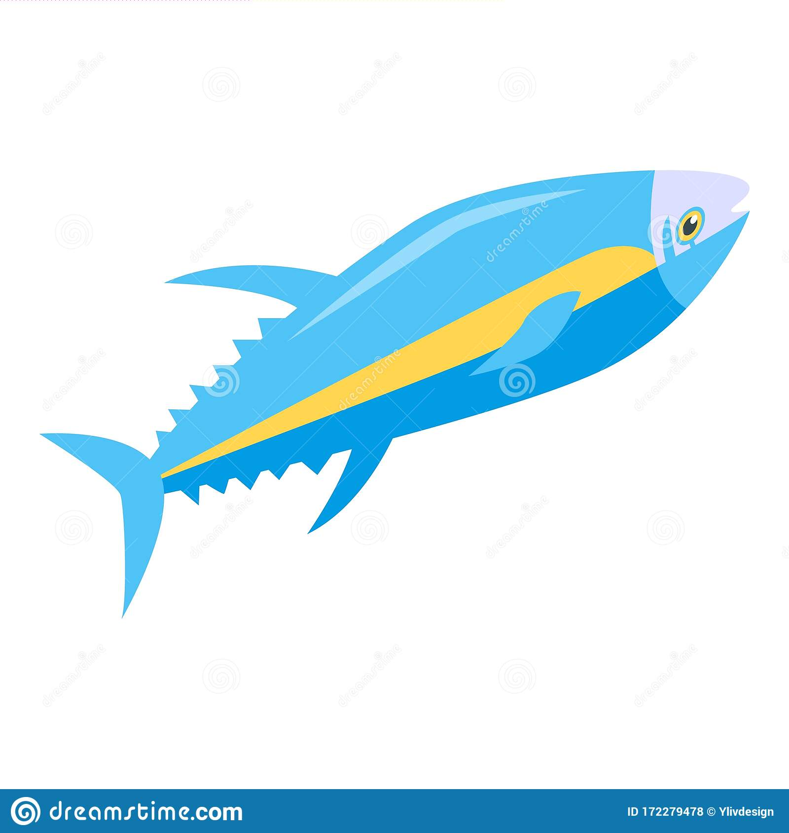tuna fish icon isometric style stock vector illustration of nature fish 172279478 dreamstime com