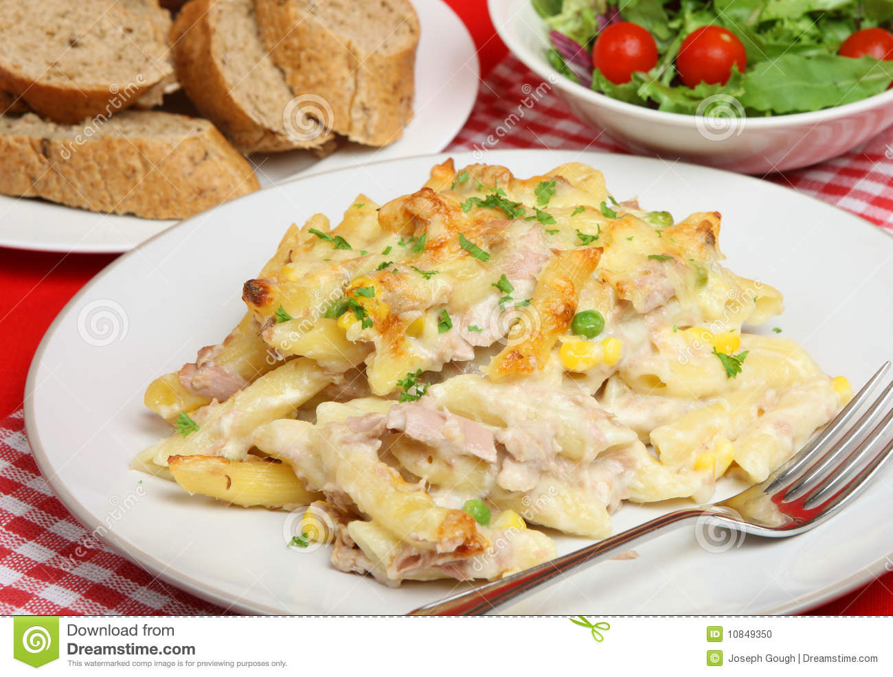 Tuna fish pasta bake stock photo image 10849350 for Tuna fish pasta