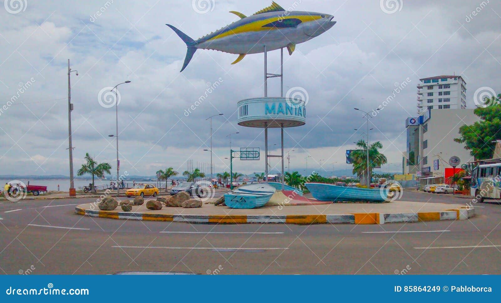 Tuna Monument In Manta, Ecuador Stock Image - Image of