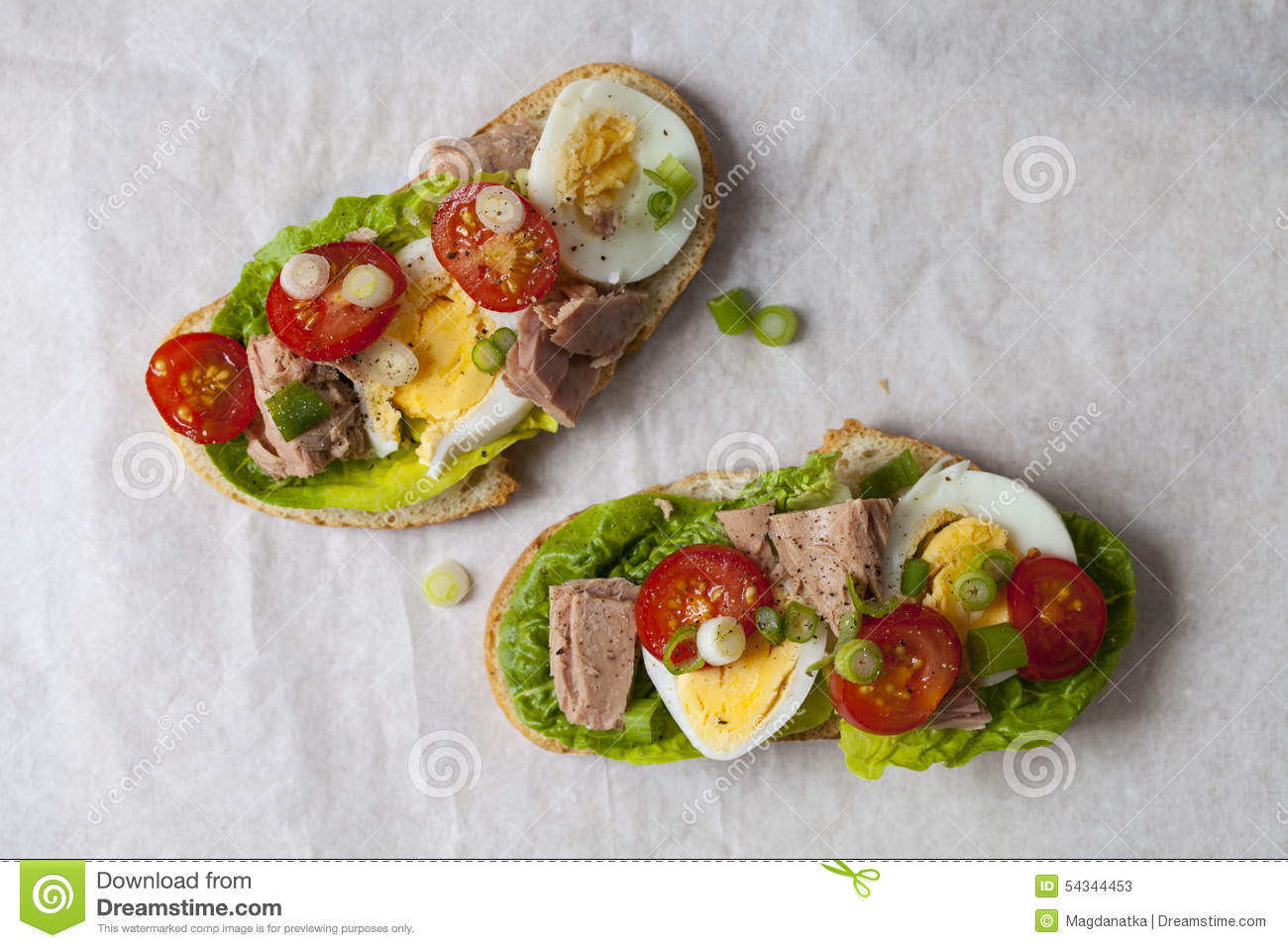 Tuna Nicoise Sandwich Stock Photo - Image: 54344453