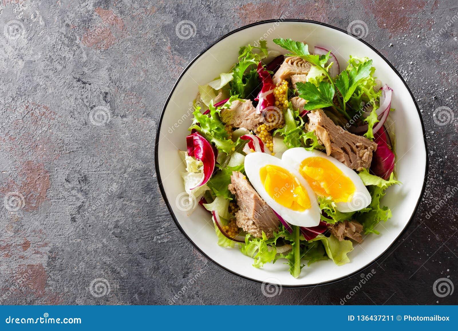 tuna and eggs mediterranean diet