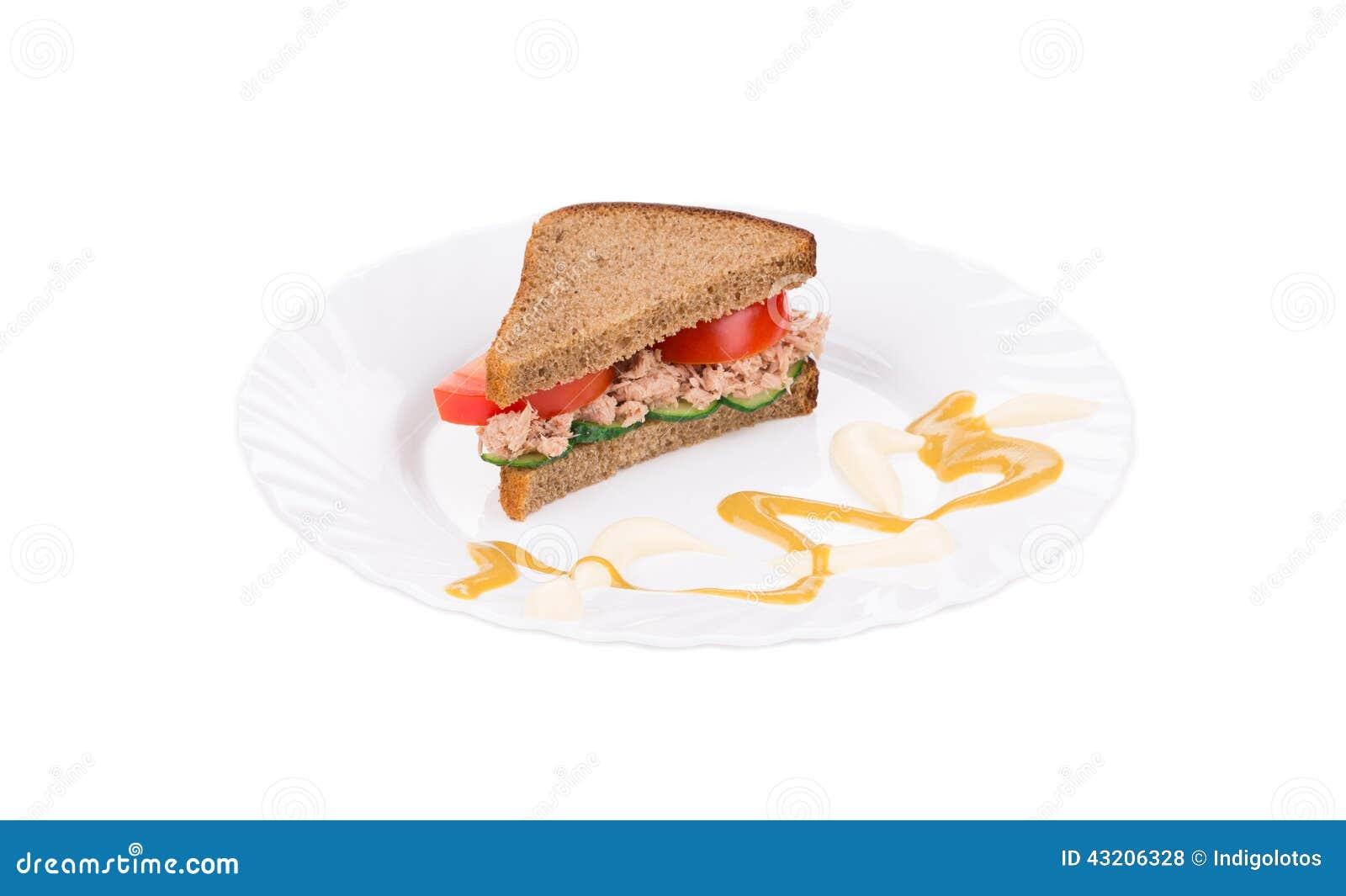Download Tuna Sandwich arkivfoto. Bild av nytt, skiva, smörgås - 43206328