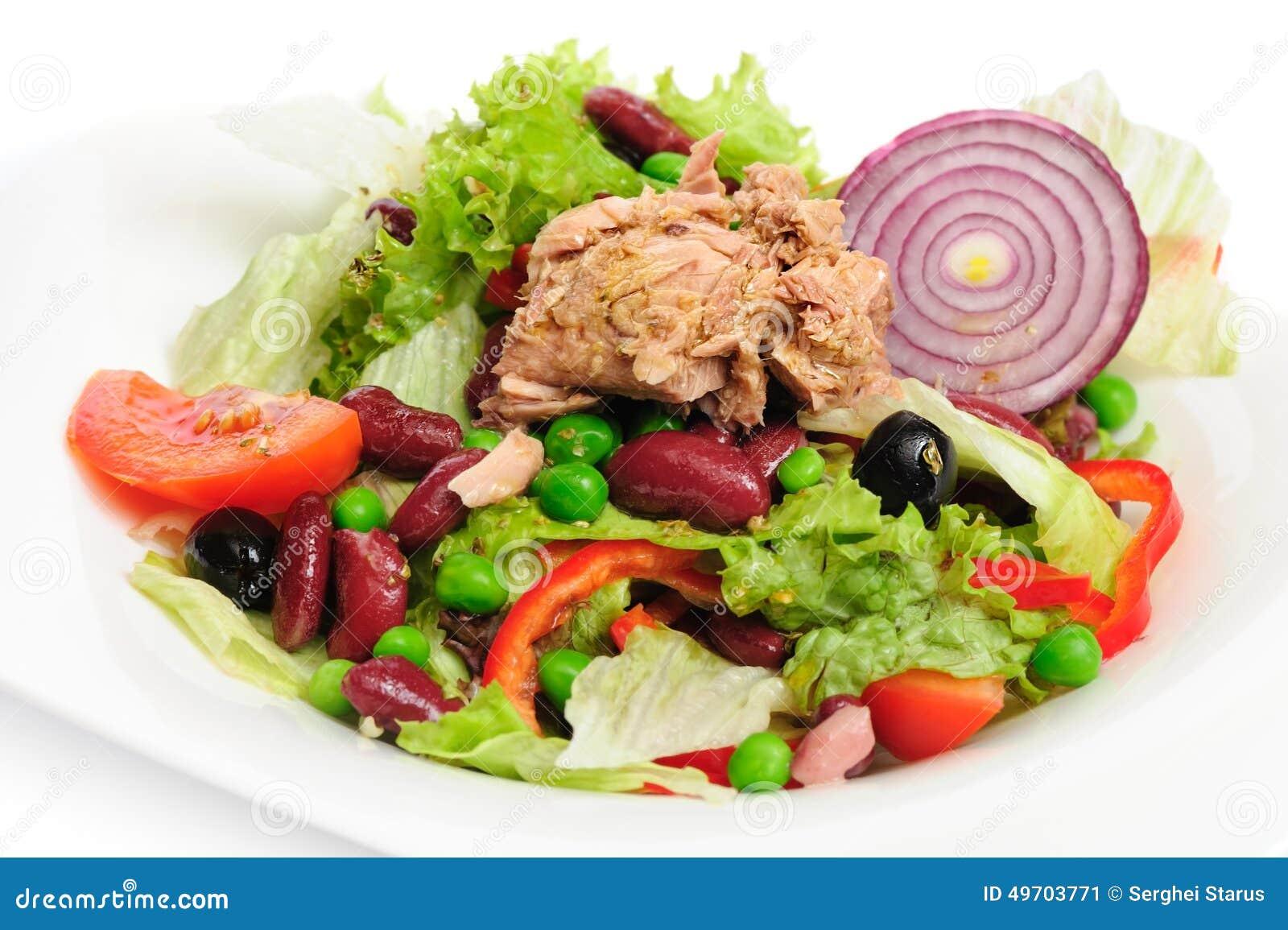 Tuna And Vegetable Salad Stock Photo Image 49703771