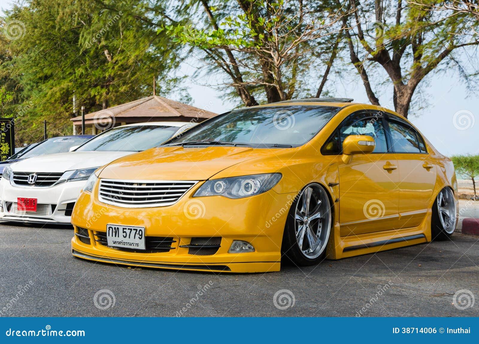 Tuned Car Honda Civic Editorial Photo Image 38714006