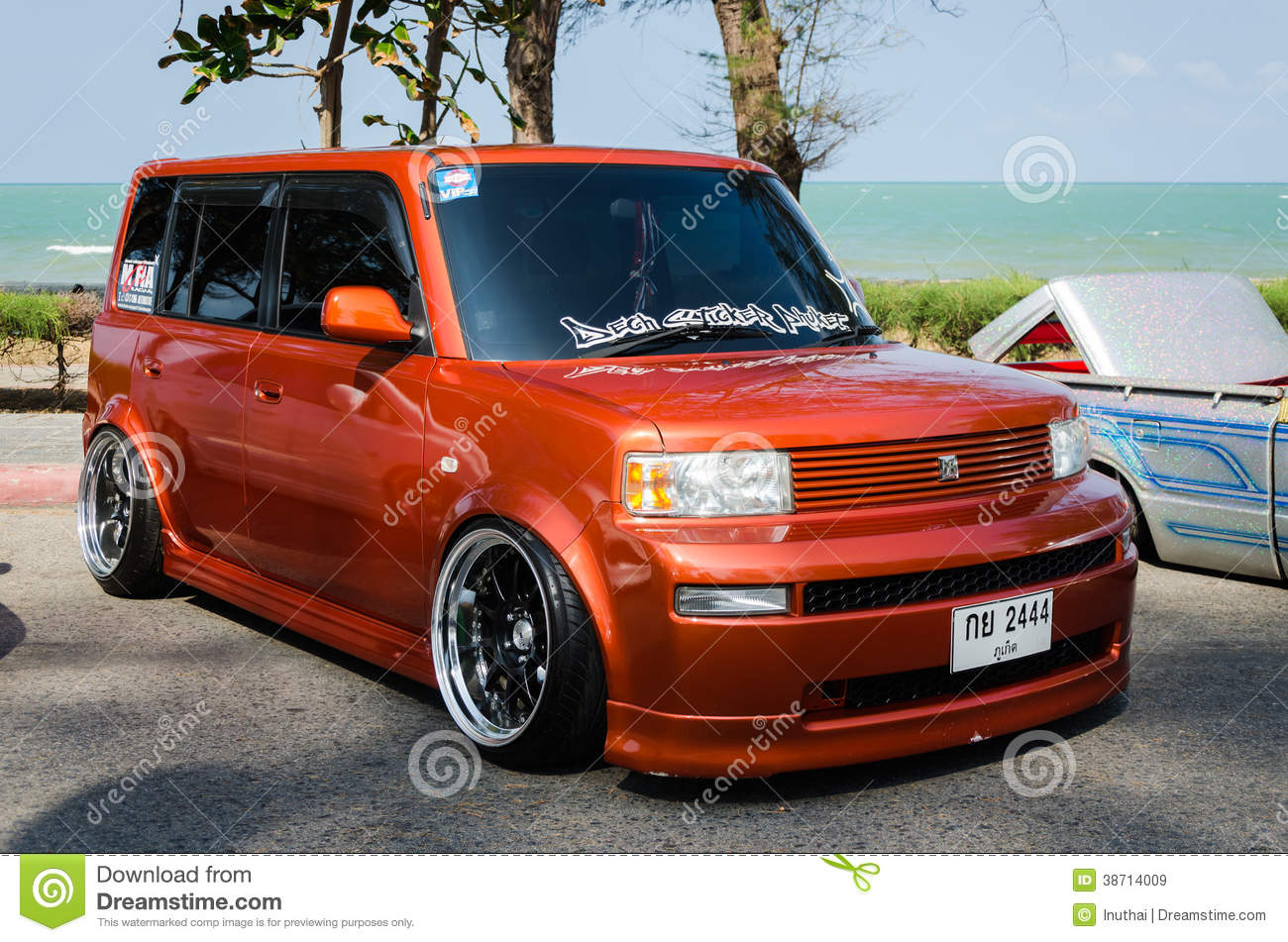 Tuned Car Toyota Bb Editorial Stock Image Image 38714009
