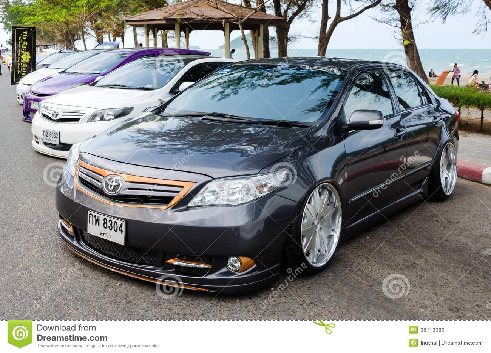 Tuned Car Toyota Corolla Altis Editorial Stock Image
