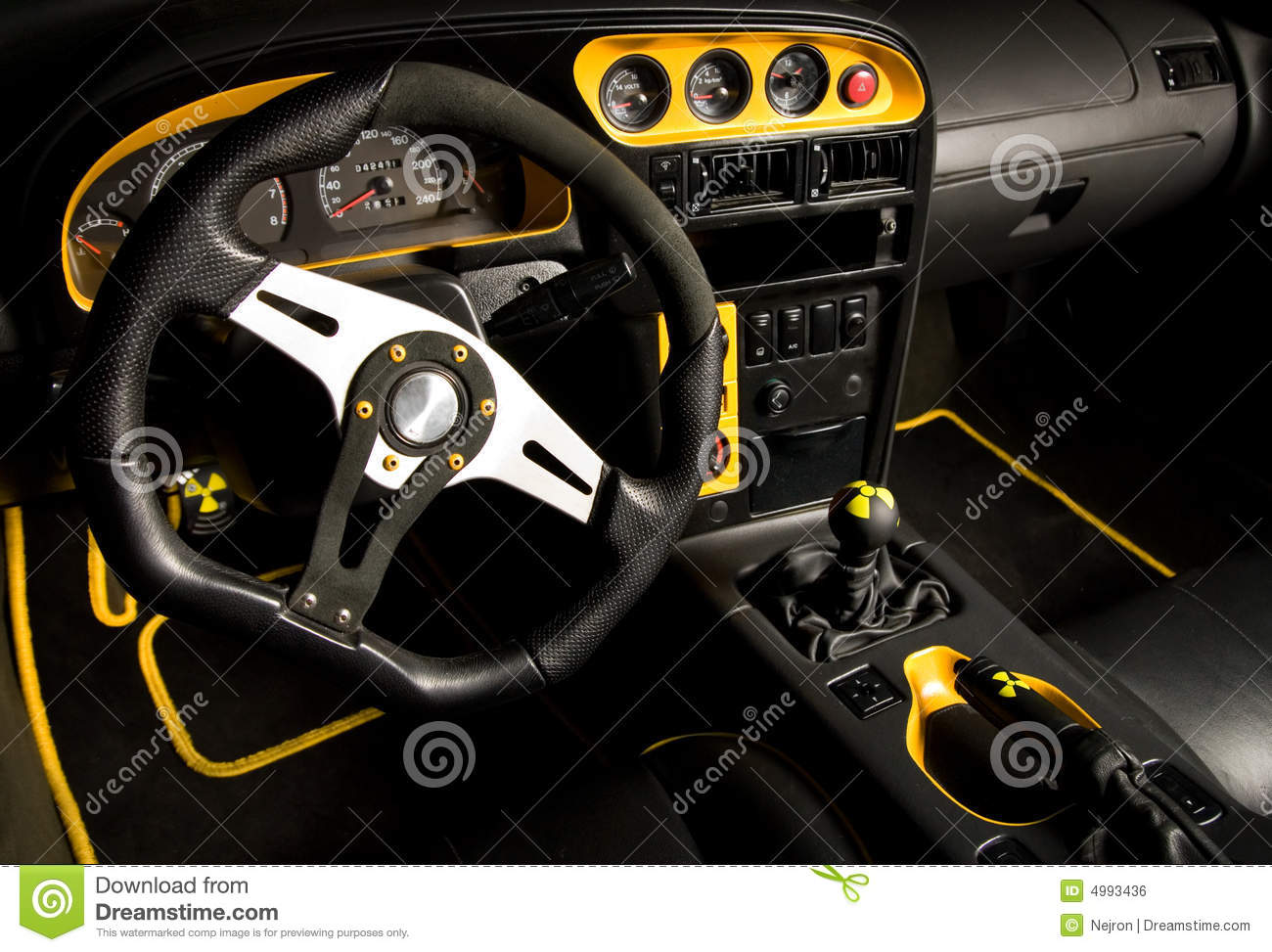 tuned sport car interior stock photo image of drive design 4993436. Black Bedroom Furniture Sets. Home Design Ideas