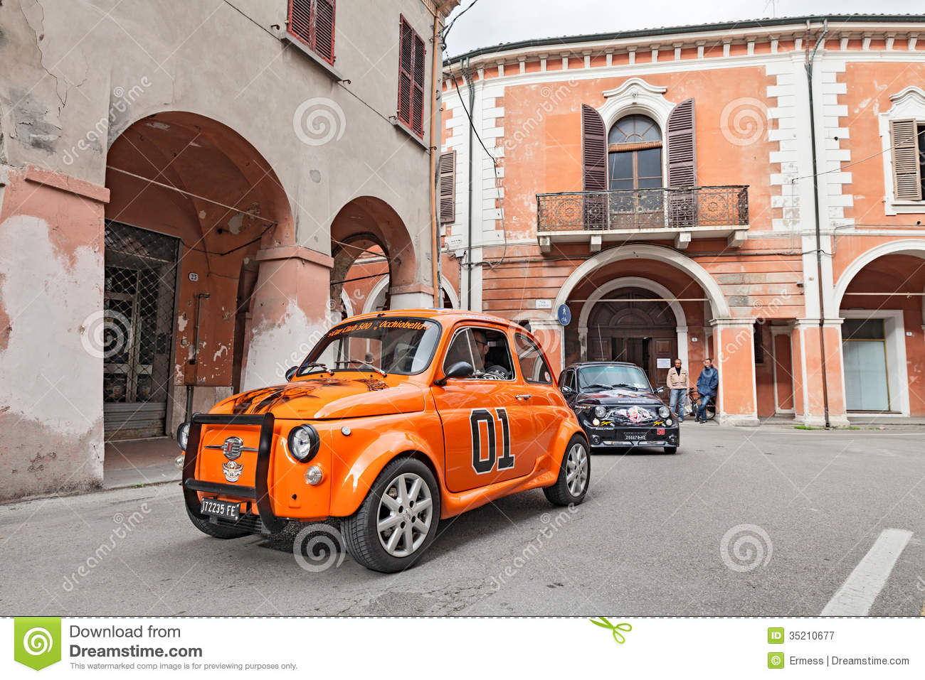 Tuned Vintage Car Fiat 500 Editorial Photography Image