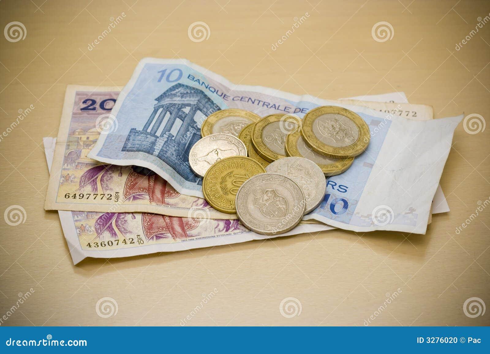 Tunesische Dinare Stockfoto Bild Von Geld Dinare Münzen 3276020