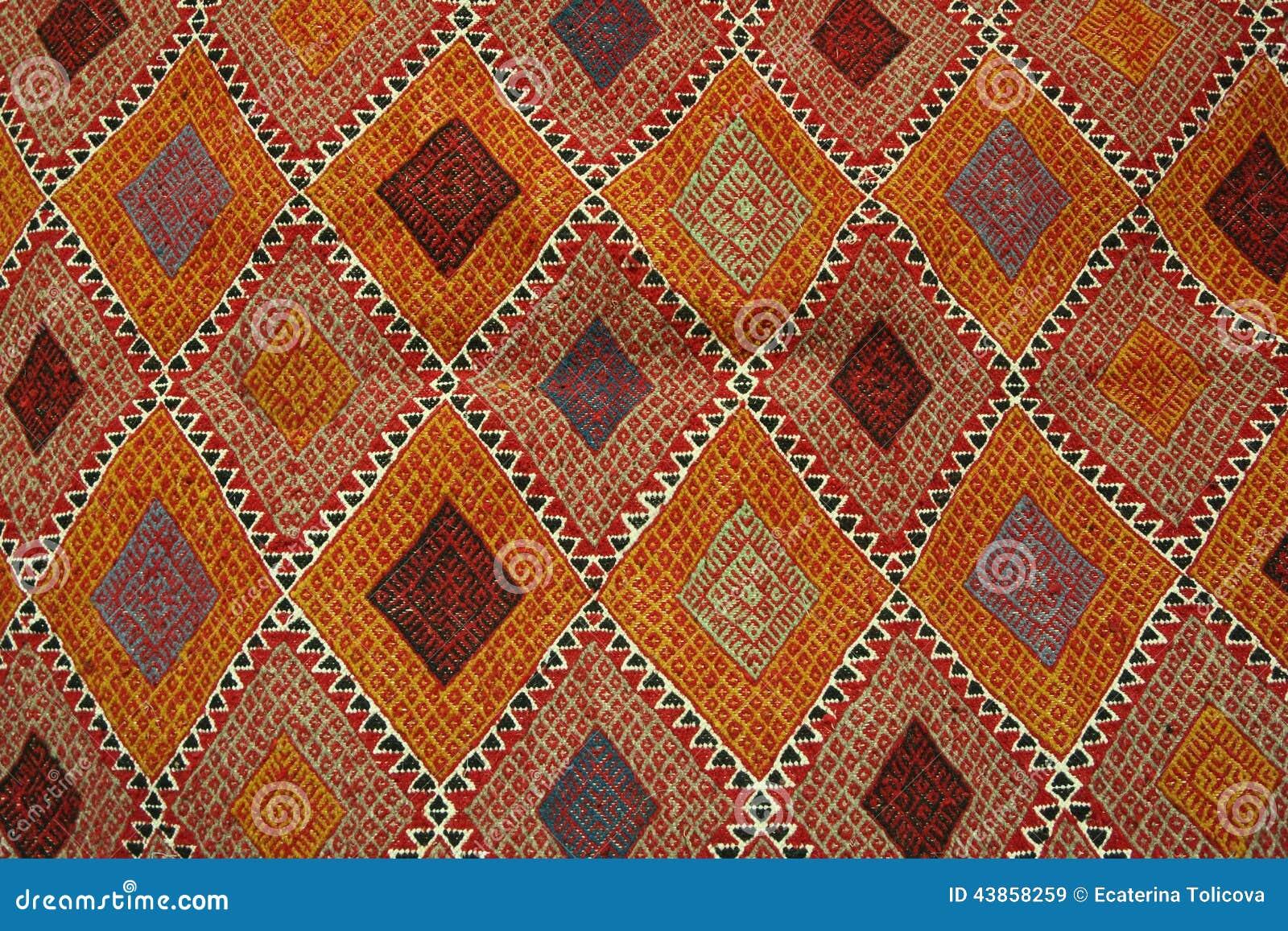 Tunesischer Teppich  Margoum Stockfoto  Bild 43858259