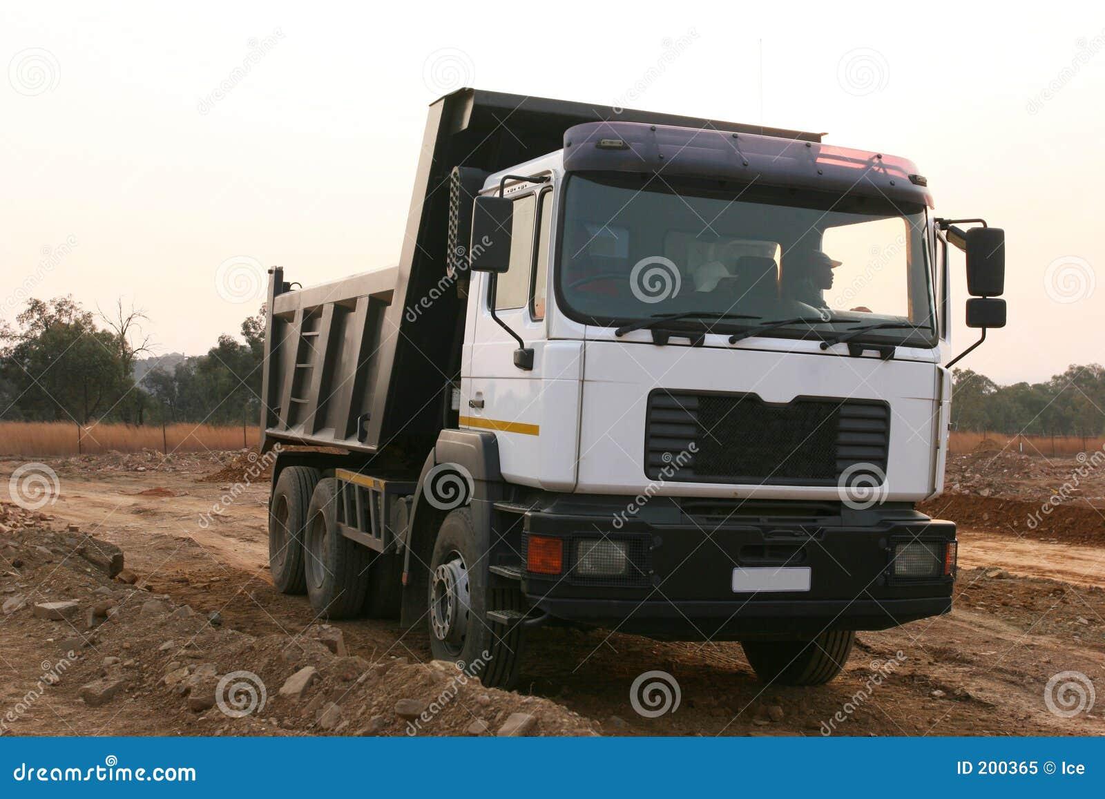 Tung lastbil för konstruktion