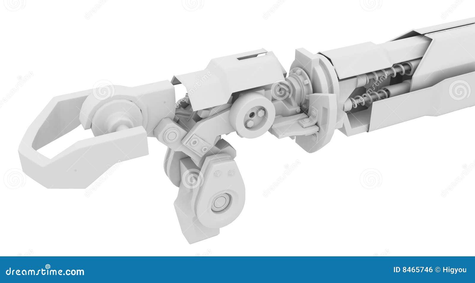 Tung robotic white för arm