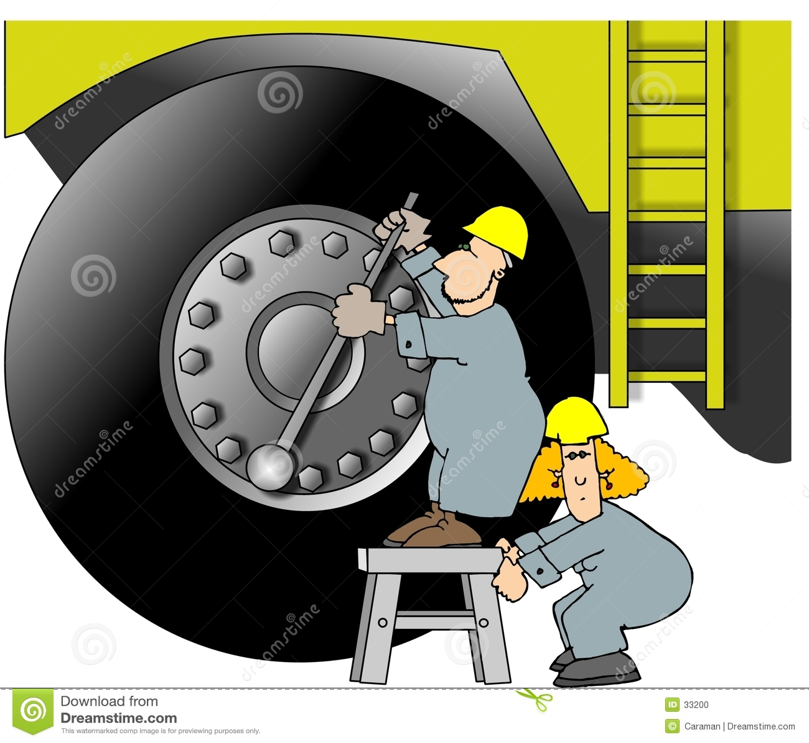 Tunga arbetare för utrustning