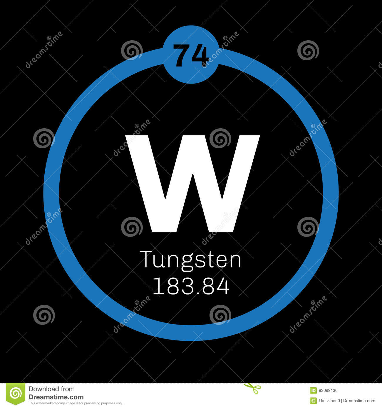 Tungsten Chemical Element Stock Vector Illustration Of Electron