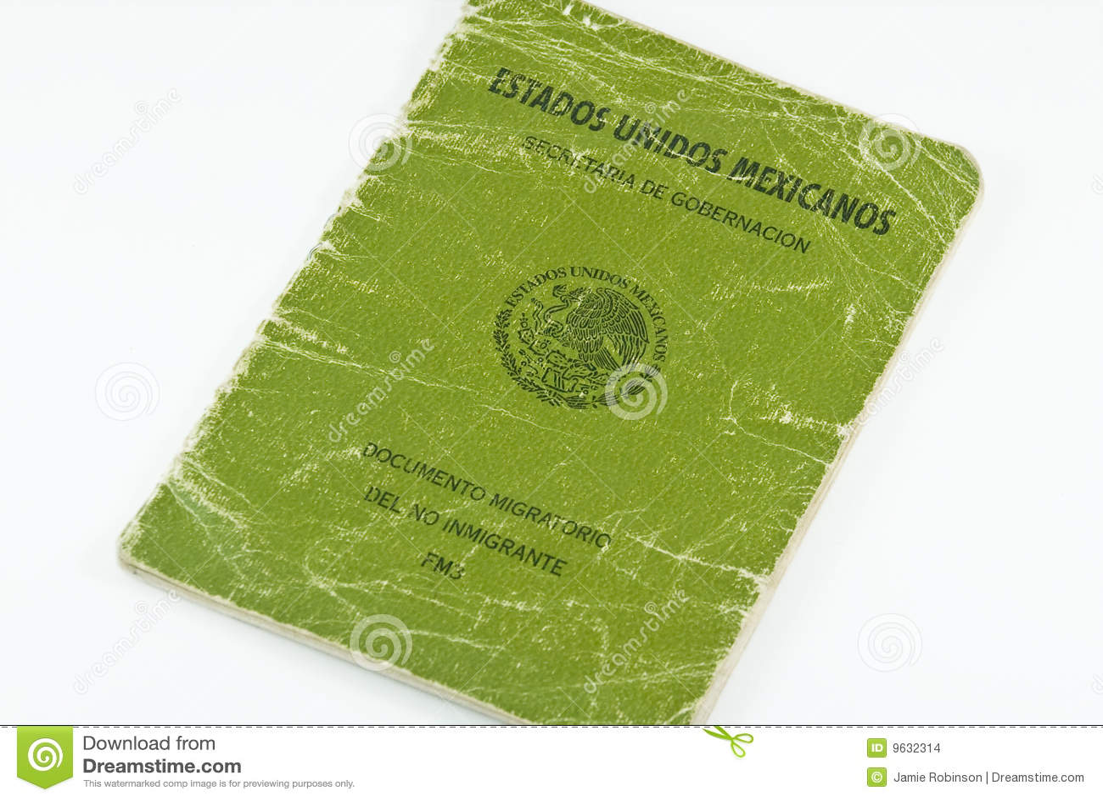 Tungt använt mexikanskt pass för invandring fm3