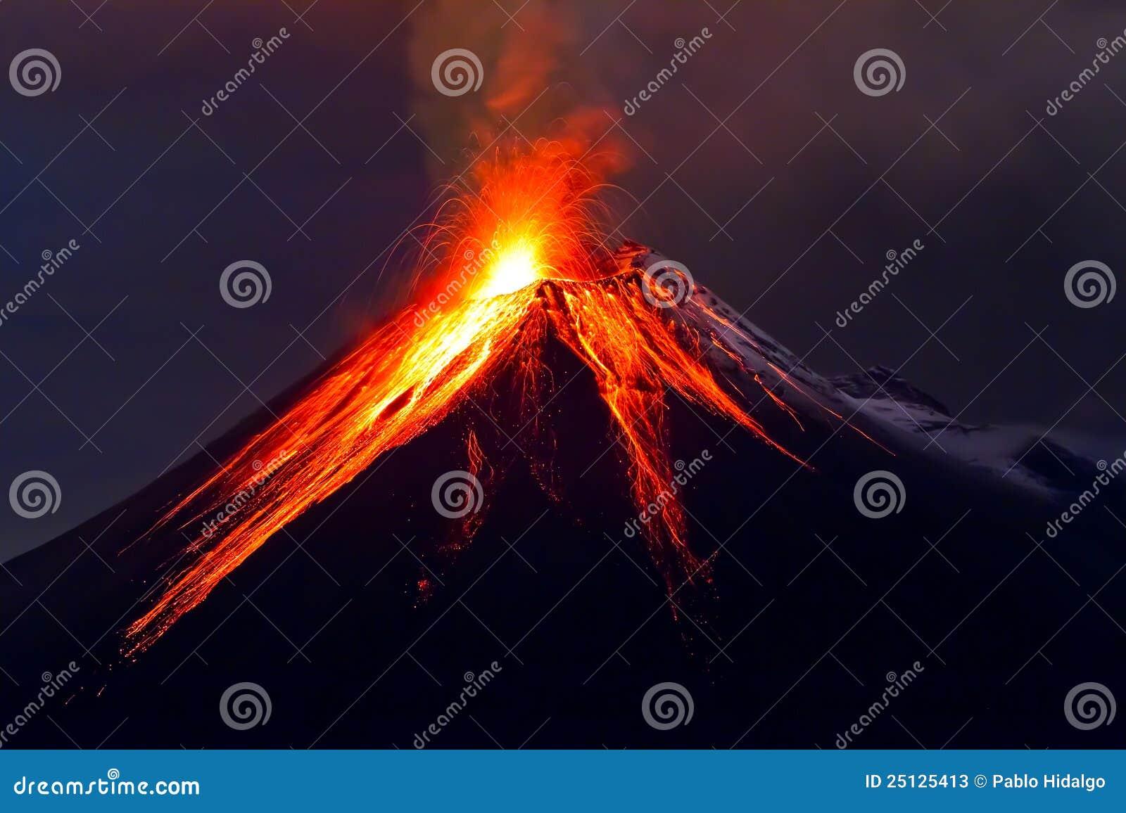 Tungurahua Volcano eruption